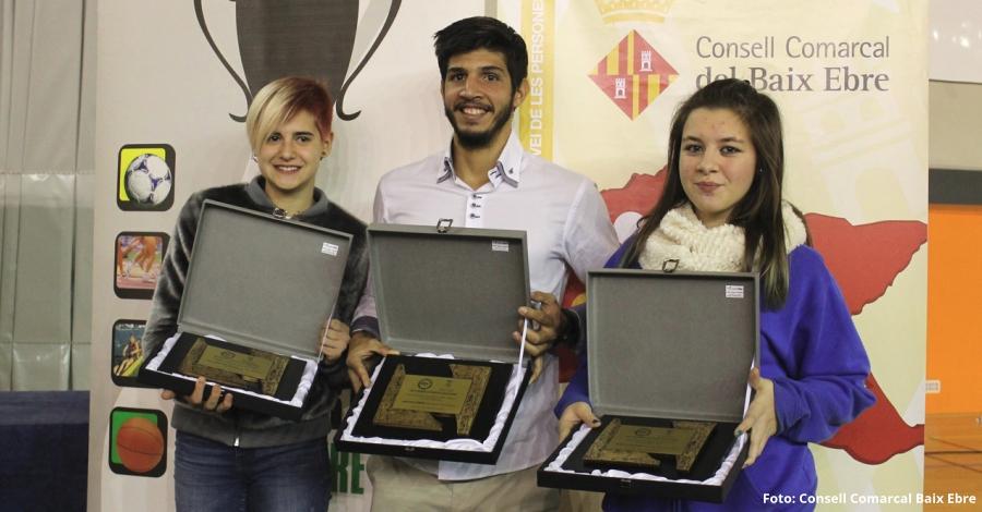 El remer Xavi Vela, l'atleta Laia Monforte i la patinadora Dana Gil, elegits millors esportistes de l'any del Baix Ebre
