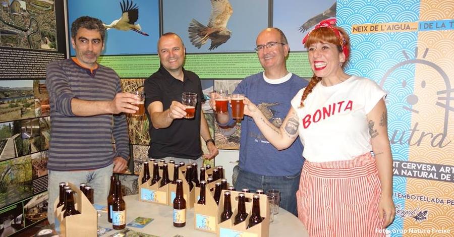 Presentada la cervesa artesana de la Reserva Natural de Sebes: Lutra