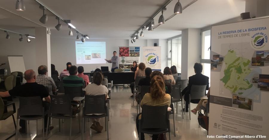 La Ribera d'Ebre presenta el projecte del GR-99 a les empreses acreditades per la Reserva de la Biosfera