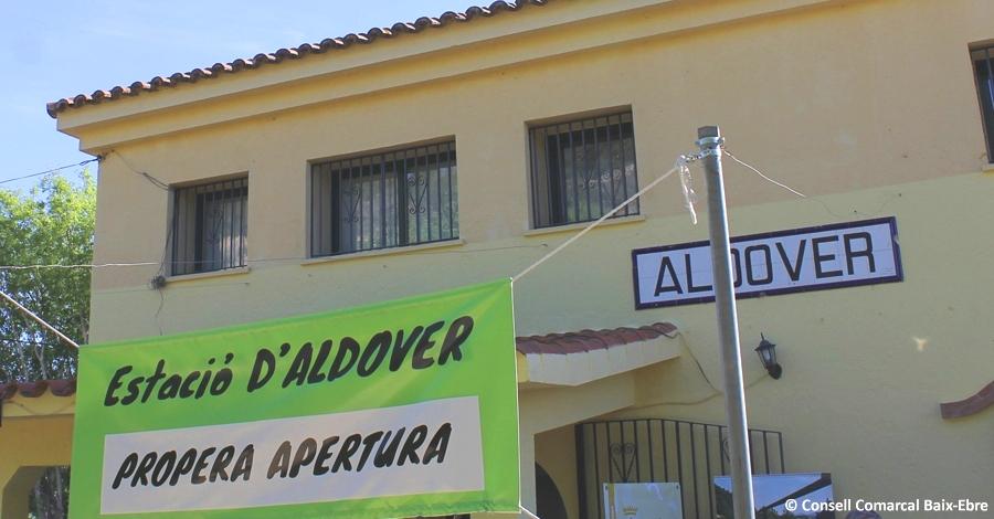 L'estació d'Aldover de la Via Verda del Baix Ebre reobre portes amb servei de bar i restaurant
