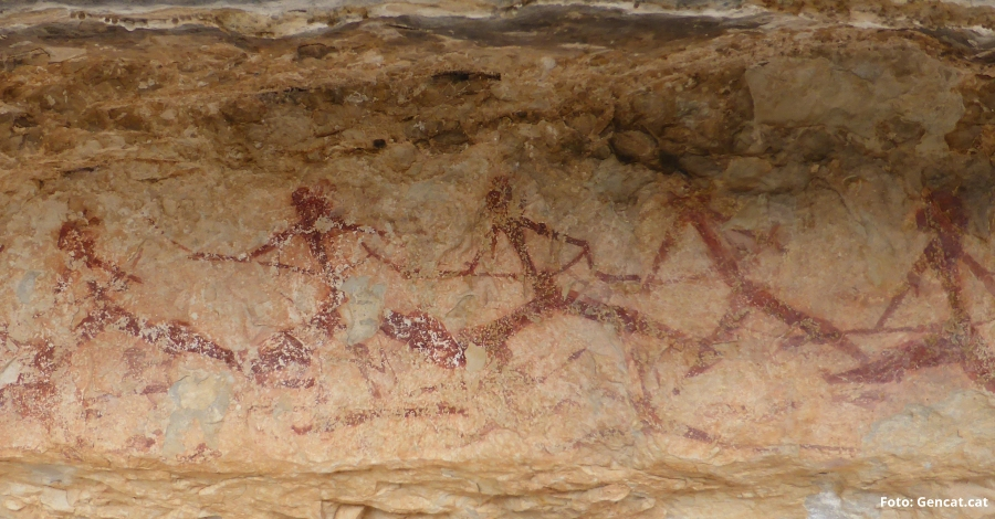 Les pintures rupestres descobertes a Mas de Barberans tenen més de 8.000 anys