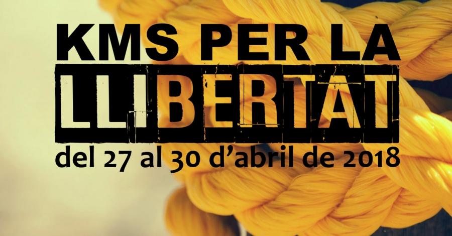 Kms per la Llibertat, una cursa de relleus per denunciar la situació dels presos polítics