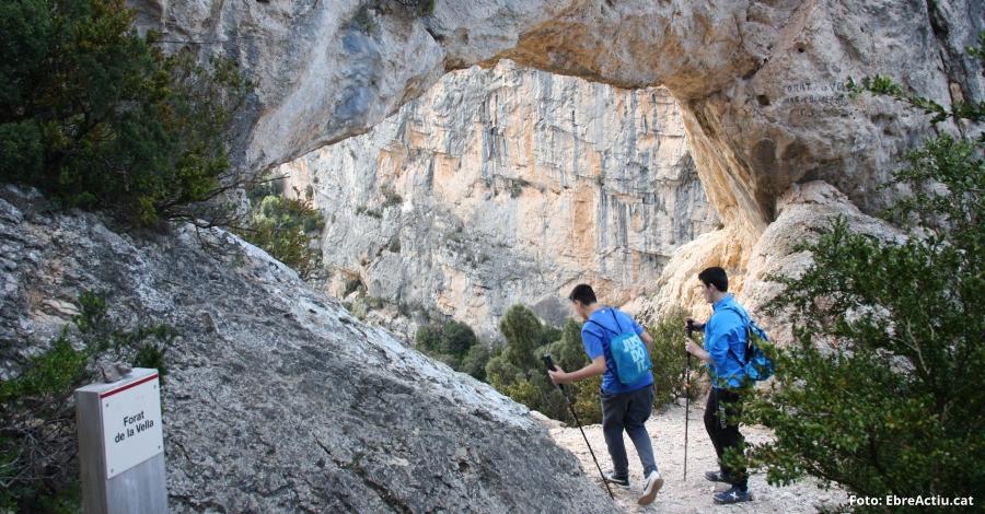 Restringida l'escalada a dos zones de la paret del Forat de la Vella