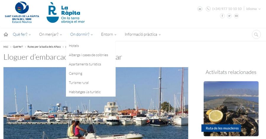 La web de l'Estació Nàutica de La Ràpita obté el segell «Ecommerce Europe Trustmark»