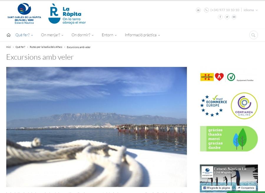 La web de l'Estació Nàutica de La Ràpita obté el segell «Ecommerce Europe Trustmark» | EbreActiu.cat, revista digital per a la gent activa