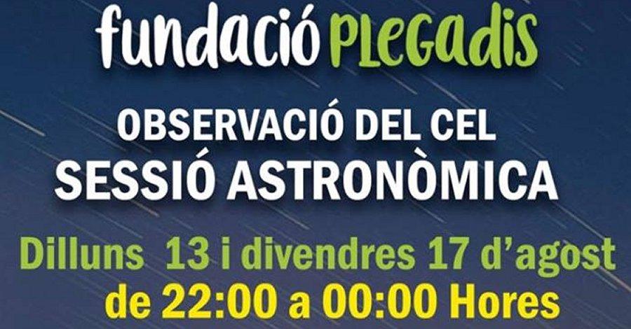 Observació del cel. Sessió astronòmica