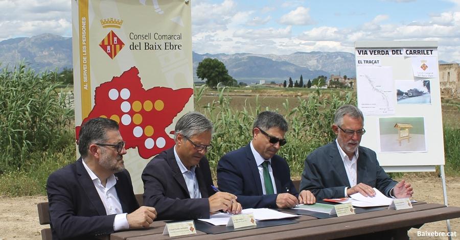 Adif i el Consell Comarcal del Baix Ebre promouen la creació de la Via Verda del Carrilet