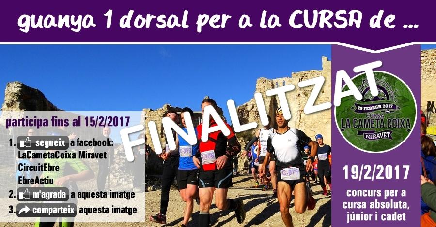 [finalitzat] Sorteig 1 dorsal: Cursa La Cameta Coixa del 19/2/2017