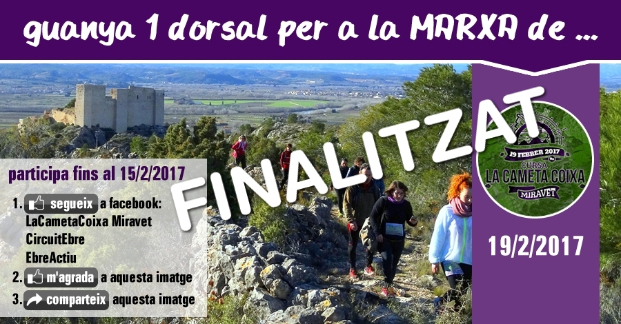 [finalitzat] Sorteig 1 dorsal: Marxa La Cameta Coixa del 19/2/2017