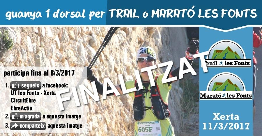 [finalitzat] Sorteig 1 dorsal: Trail o Marató de les Fonts 11/3/2017
