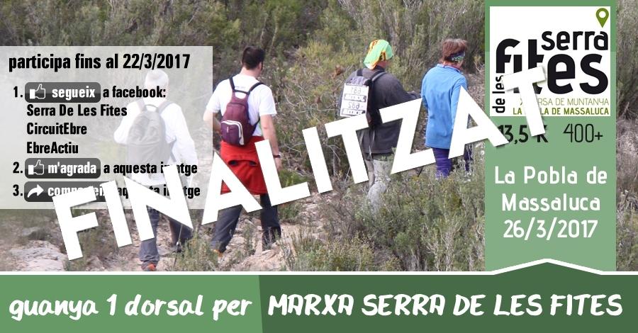 [finalitzat] Sorteig 1 dorsal: Marxa Serra de les Fites (13,5 Km i 400 m+) del 26/3/2017
