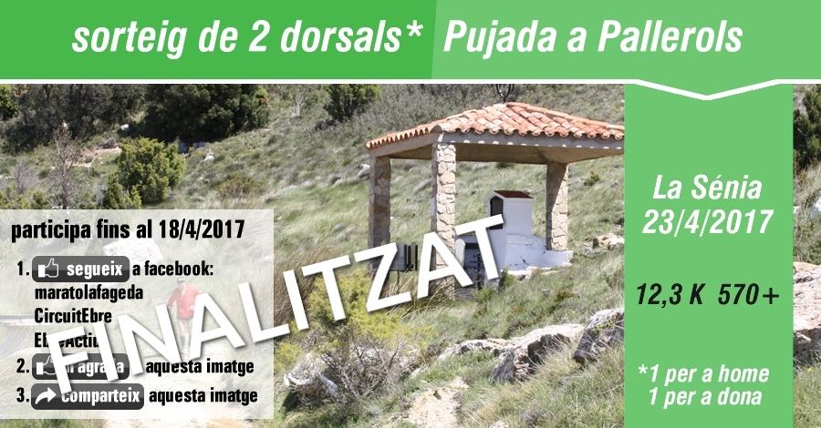 Sorteig 2 dorsals: Pujada a Pallerols 23/4/2017