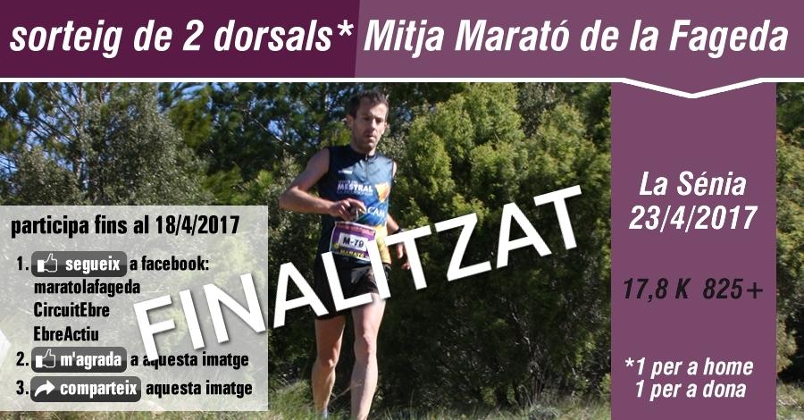 Sorteig 2 dorsals: Mitja marató la Fageda 23/4/2017