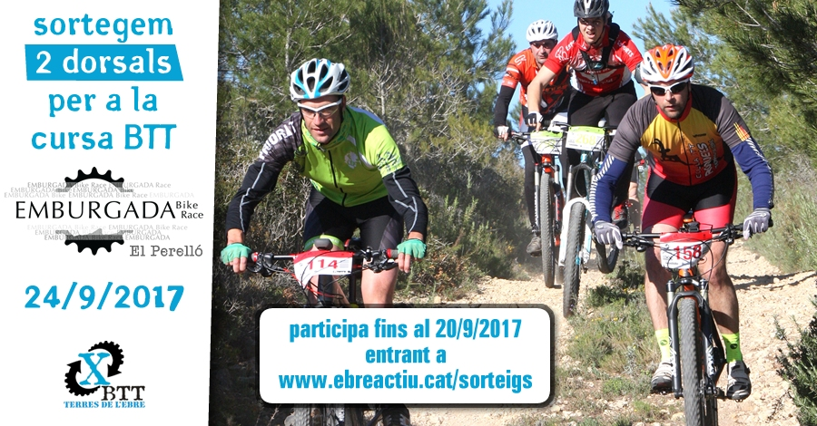 <p>Sorteig de 2 dorsals per a l&rsquo;Emburgada Bike Race - El Perelló - 24/9/2017</p>