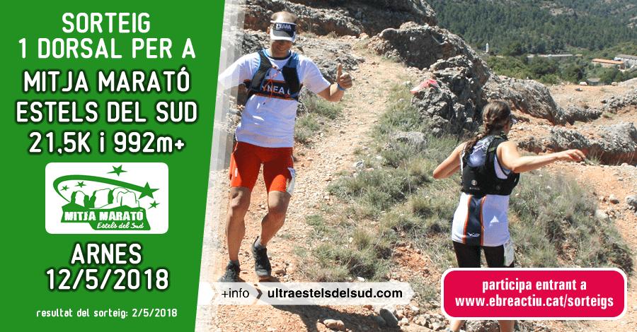 <p>Sorteig 1 dorsal per a mitja marató Estels del Sud - Arnes 12/5/2018</p>
