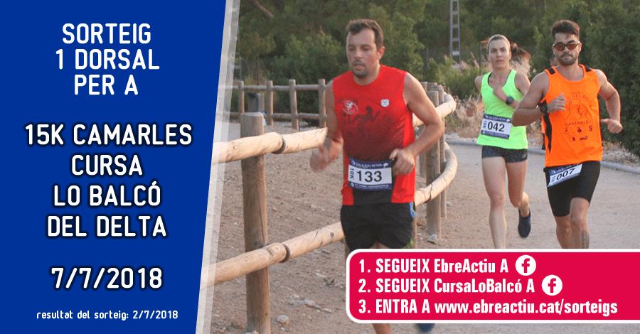 <p>Sorteig 1 dorsal per als 15K de Camarles - 7/7/2018</p>