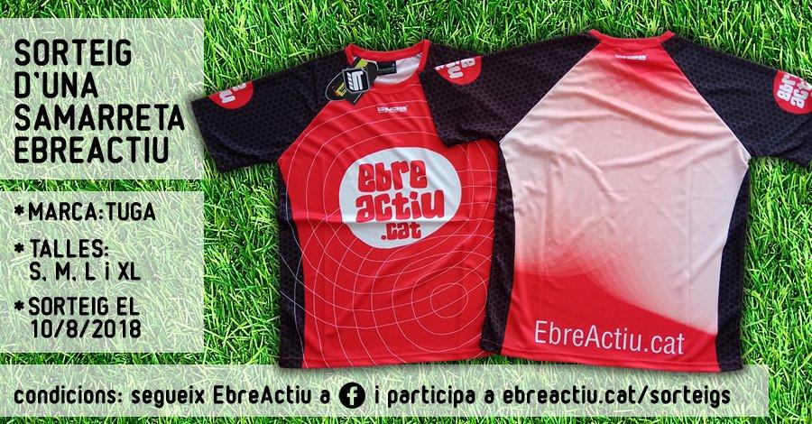 <p>Sorteig d&rsquo;una samarreta EbreActiu (marca Tuga)</p>