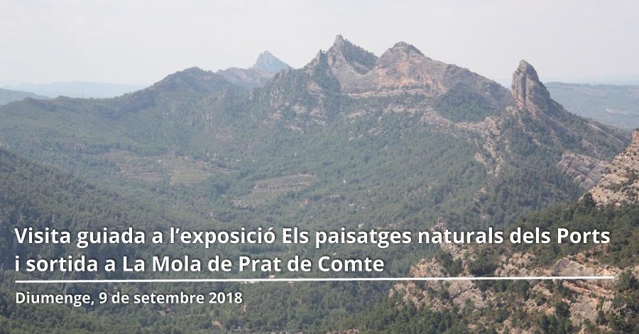 Visita guiada a l'exposició Els paisatges naturals dels Ports i sortida a La Mola de Prat de Comte