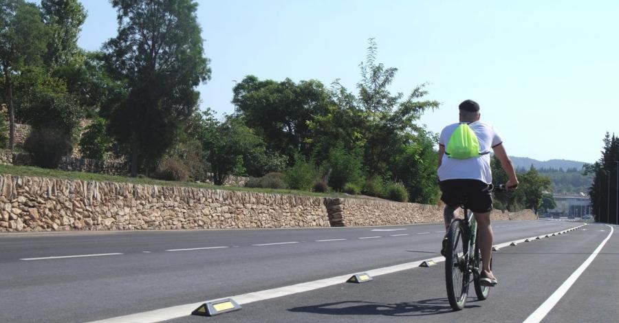 Tortosa finalitza l'ampliació de la xarxa de carril bici entre el passeig de Ribera i el camí del Mig