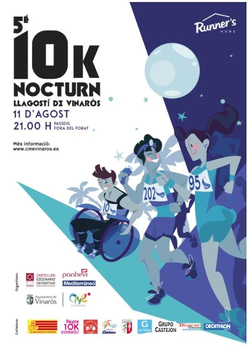 5a edició del 10K Nocturn Llagostí de Vinaròs