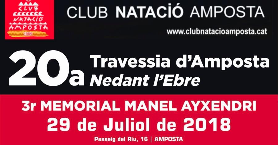 20a Travessia d'Amposta Nedant l'Ebre. 3er Memorial Manel Ayxendri
