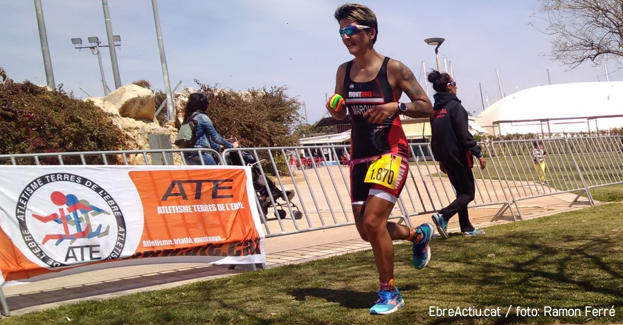Xavier Torrades i Mercè Tusell guanyen el 7è Triatló doble olímpic Terres de l'Ebre