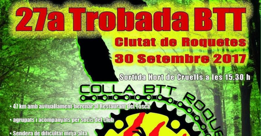 27a Trobada BTT Ciutat de Roquetes