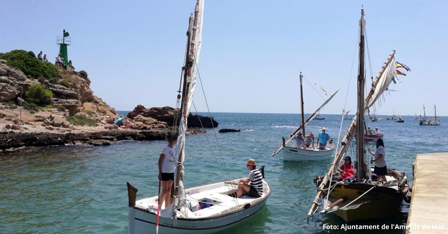 Les barques de vela llatina tornen al port natural de l'Estany
