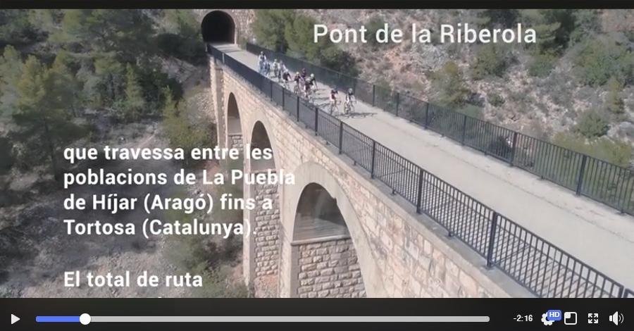 Nuevo vídeo promocional de la Vía Verde en el Baix Ebre