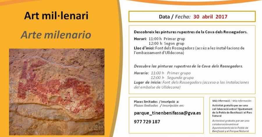Visites a les pintures rupestres de la Cova dels Rossegadors