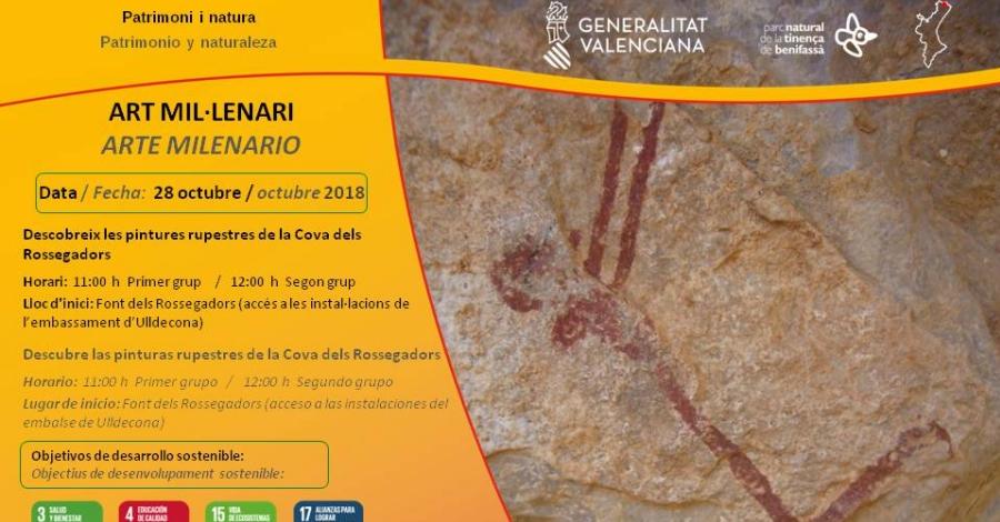 Visita a les pintures rupestres de la Cova dels Rossegadors