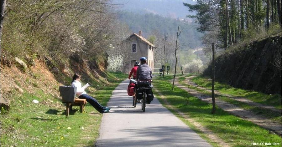 Visita empresarial a les Vies Verdes de Girona per conèixer la seua oferta cicloturista
