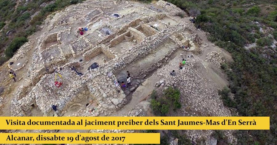 Visita documentada al jaciment preiber dels Sant Jaumes-Mas d'En Serrà