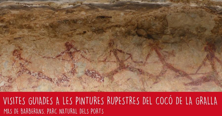Visites guiades a les pintures rupestres del Cocó de la Gralla